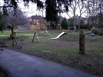 The new children's play area funded by the National Lottery - taken in March 2013.