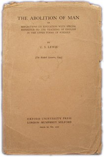 <i>The Abolition of Man</i> book