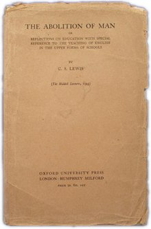 An analysis of the christian ethics in the book the abolition of man by cs lewis