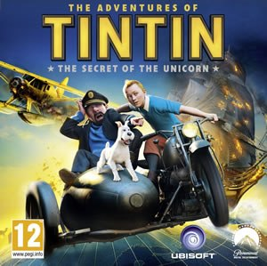 The Adventures of Tintin: The Secret of the Unicorn (video game) - European cover of the game