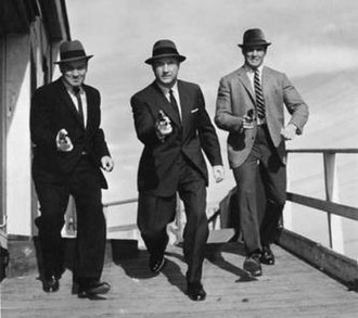 The Asphalt Jungle (TV series) - The cast of The Asphalt Jungle: Left to right, Arch Johnson as Captain Gus Honochek, Jack Warden as Deputy Police Commissioner Matthew Gower, and Bill Smith as Sergeant Danny Keller.