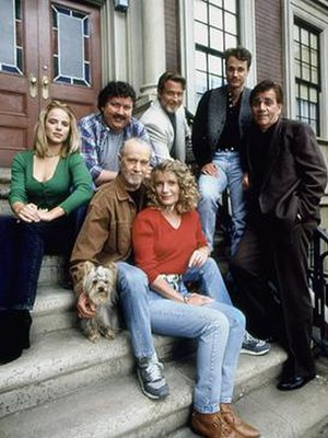 The George Carlin Show - Promotional image of the cast members from The George Carlin Show