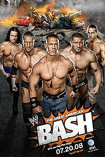 The Great American Bash (2008) 2008 World Wrestling Entertainment pay-per-view event