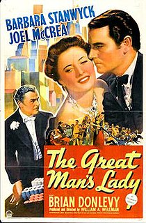 <i>The Great Mans Lady</i> 1942 film by William A. Wellman