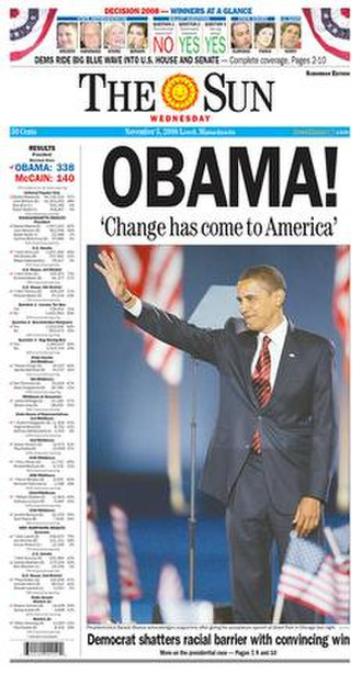 The Sun (Lowell) - Image: The Lowell Sun front page