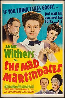 <i>The Mad Martindales</i> 1942 film by Alfred L. Werker