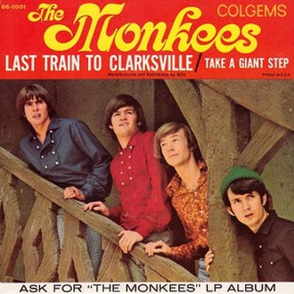 Last Train to Clarksville - Image: The Monkees single 01 Last Train to Clarksville