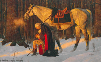 Arnold Friberg - The Prayer at Valley Forge, arguably Friberg's most well known painting.