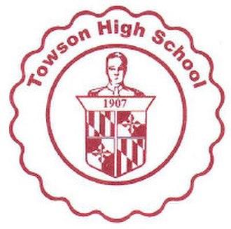 Towson High School - Image: Towson HS logo