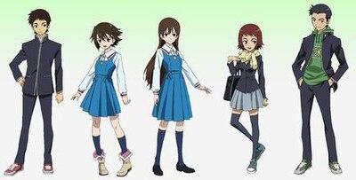 True Tears Main Characters From Left To Right Shinichiro Noe Hiromi Aiko And Miyokichi