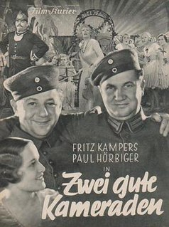 <i>Two Good Comrades</i> 1933 film by Max Obal