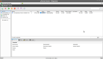 ΜTorrent - Screenshot of μTorrent Server viewed in Firefox
