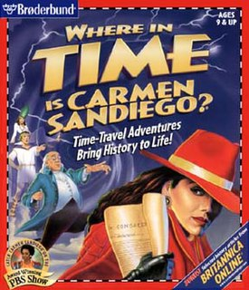 <i>Carmen Sandiegos Great Chase Through Time</i> version 1997 of the game