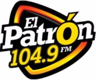 XHBD-FM - Image: XHBD El Patron 104.9 logo