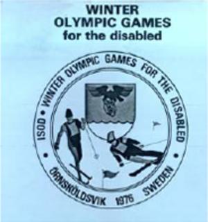 1976 Winter Paralympics - Image: Örnsköldsvik 1976 Paralympics logo