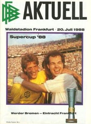 1988 DFB-Supercup - Image: 1988 DFB Supercup programme