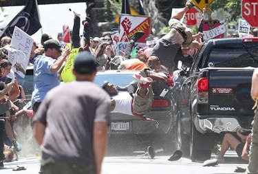 Photograph of the 2017 Charlottesville vehicle-ramming attack