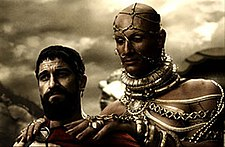 Xerxes encourages Leonidas to surrender