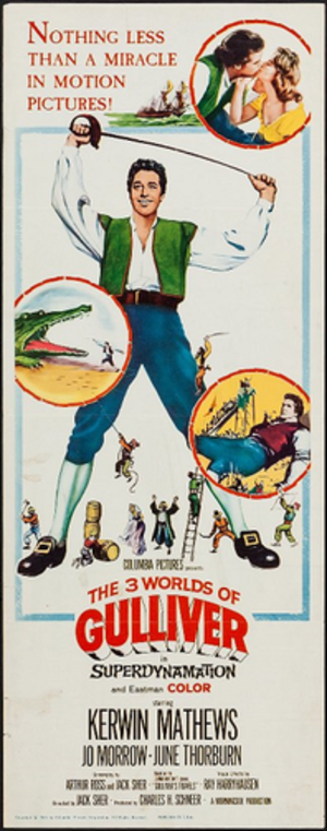 The 3 Worlds of Gulliver - Theatrical poster