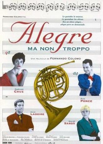 Alegre ma non troppo - Theatrical release poster