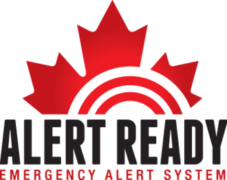 Alert Ready - Current English logo of Alert Ready