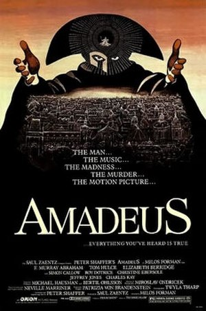 Amadeus (film) - Theatrical release poster by Peter Sís