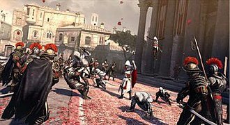 Assassin's Creed: Brotherhood - Ezio using the BAM system (Brotherhood Assist Move).