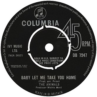 Baby Let Me Take You Home - Image: Baby Let Me Take You Home Animals label
