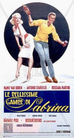 The Beautiful Legs of Sabrina - Italian theatrical release poster