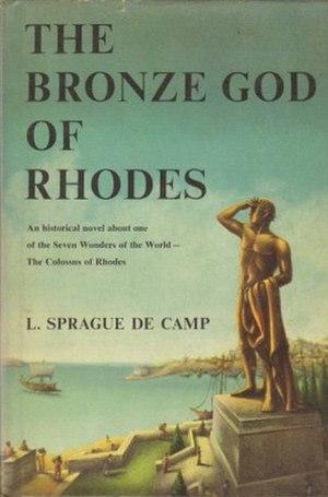 The Bronze God of Rhodes - Dust-jacket illustration of The Bronze God of Rhodes