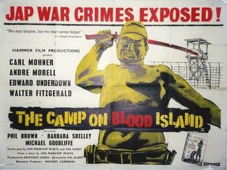 The Camp on Blood Island - UK release poster