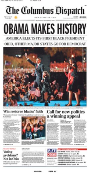 The Columbus Dispatch - Image: Columbus Dispatch November 5 2008