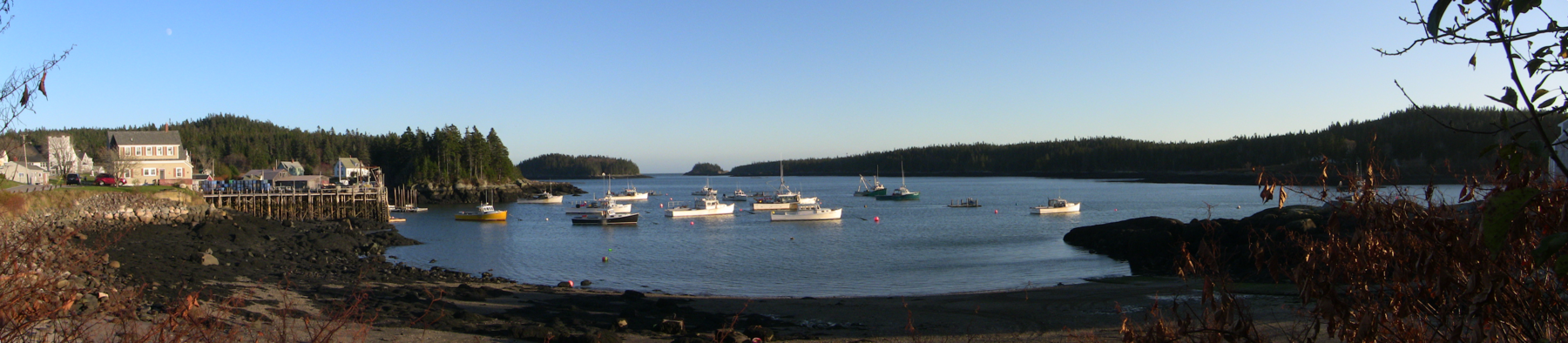 Panorama of Cutler Harbor in November