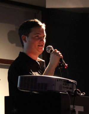 Anthony Carrigan - Anthony Carrigan speaking at the conference Reframing Disaster, Leeds, 28–29 November 2014.