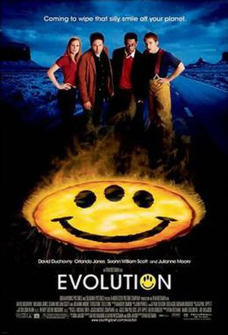Evolution (2001 film) - Theatrical release poster