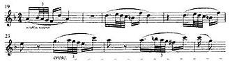 Ghost Trio (play) -  Beethoven's Piano Trio Opus 70, No 1, 2nd movement, bars 19-25, violin