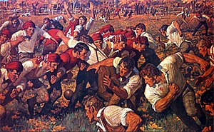 Oldest football clubs - Drawing from the first football game played between Rutgers and Princeton.