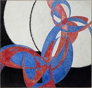 František Kupka - Amorpha, Fugue en deux couleurs (Fugue in Two Colors), oil on canvas, 210 × 200 cm, 1912, Narodni Galerie