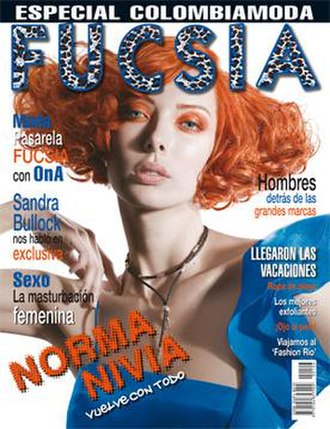 Fucsia - Front cover of issue 106 of Fucsia featuring model and actress Norma Nivia.