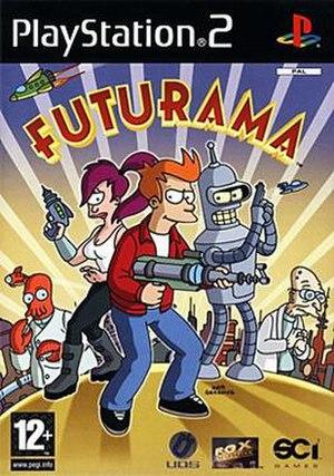 Futurama (video game) - European PlayStation 2 cover art