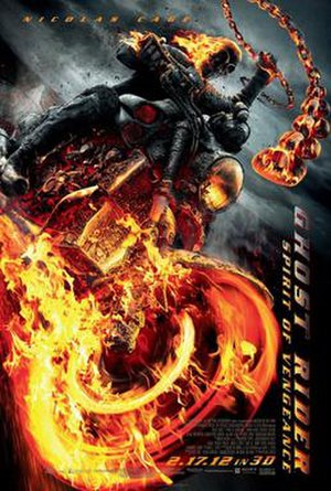 Ghost Rider: Spirit of Vengeance - Theatrical release poster