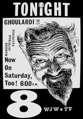 WJW (TV) - 1960s station advertisement for Ghoulardi, the immensely popular Cleveland horror host.