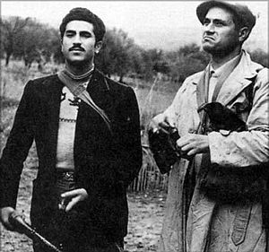 The Sicilian - Aspanu Pisciotta (left) and Salvatore Giuliano in real life
