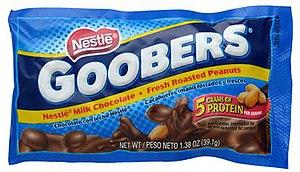 Chocolate-coated peanut - Image: Goobers Wrapper Small