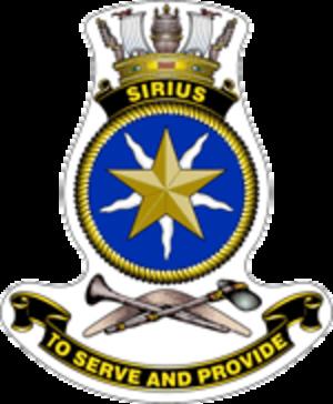 HMAS Sirius (O 266) - Ship's badge