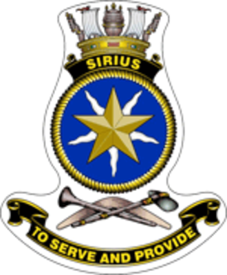 HMAS Sirius (O 266) - Ship's badge