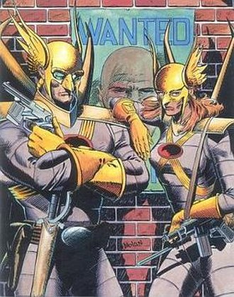 Hawkman (Katar Hol) - Katar Hol and Shayera Hol. Art by Graham Nolan.