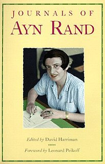 <i>Journals of Ayn Rand</i> book by Ayn Rand