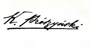 Kazimierz Prószyński - Image: Kazimierz Proszynski autograph