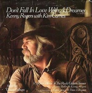 Don't Fall in Love with a Dreamer - Image: Kenny Rogers Dont Fall single